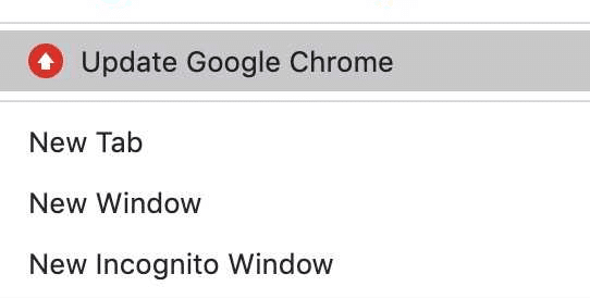 Now, click on Update Google Chrome