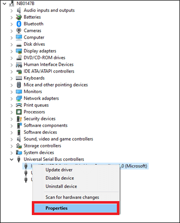 Right-click on the USB driver and click on the Properties. Fix USB keeps disconnecting and reconnecting