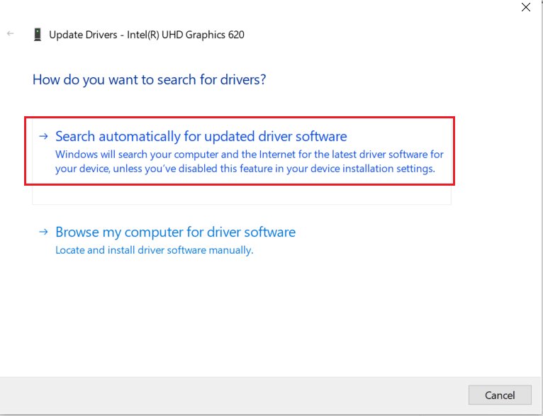 click on search automatically for driver update for display driver. Fix hkcmd high CPU usage