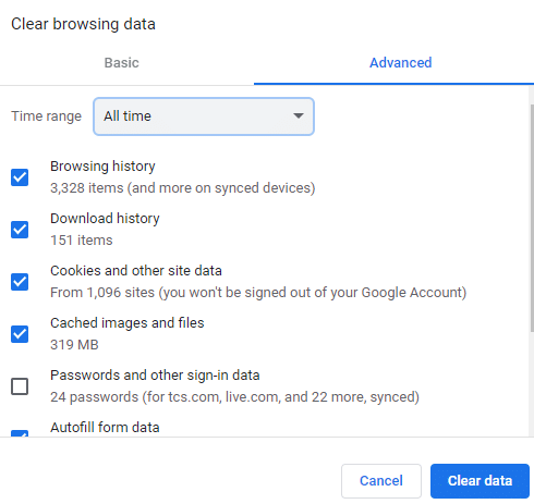 select the Time range for the action to be completed | Stop Google Chrome Blocking Download of Files