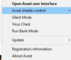 Now, select the Avast shields control option, and you can temporarily disable Avast.Fix Chrome Blocking Download Issue