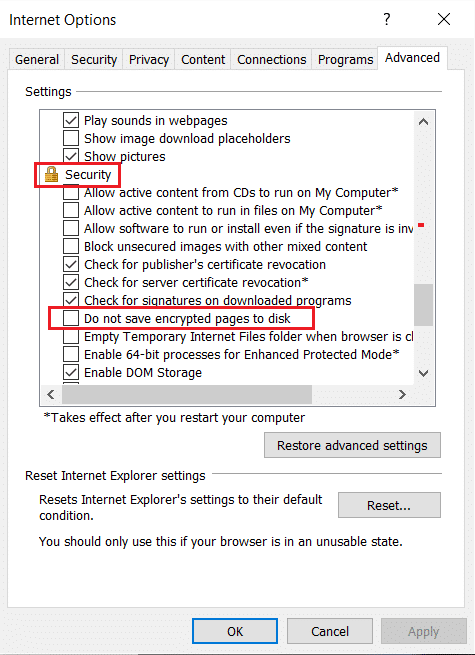 Uncheck Do not save encrypted pages to disk in Settings section. the content can't be displayed because the S MIME control isn't available