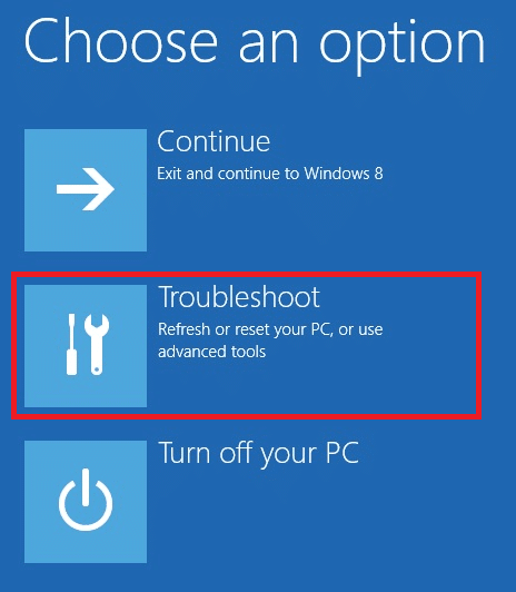Here, click on Troubleshoot. Fix Device Not Migrated in Windows 10