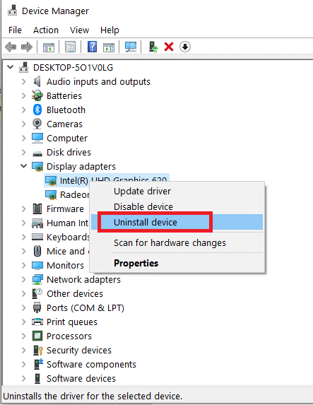 right-click on the driver and select Uninstall device. DISM host servicing process high CPU usage
