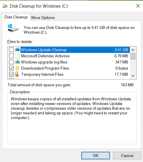 check the boxes in Disk Cleanup window. Just, click on OK. How to Delete Win Setup Files in Windows 10