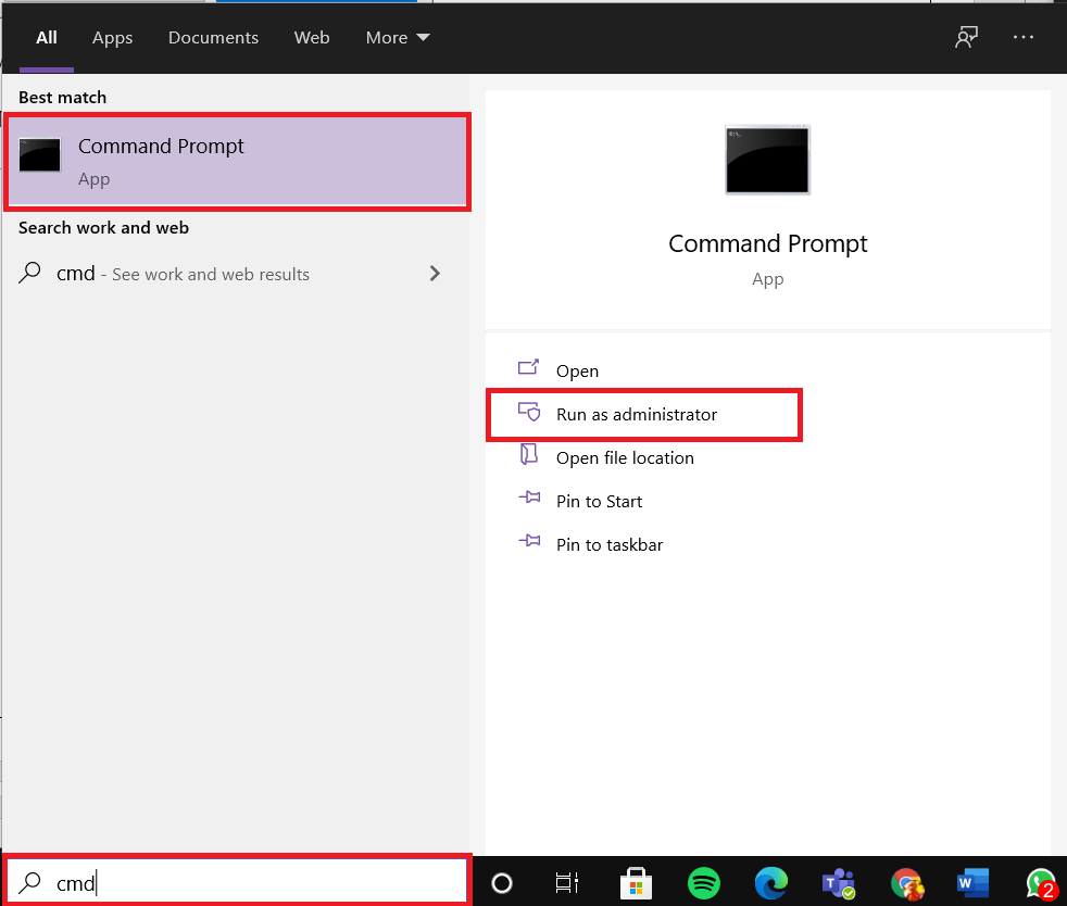 In a search bar type cmd and click on Run as administrator. How to Delete Win Setup Files in Windows 10