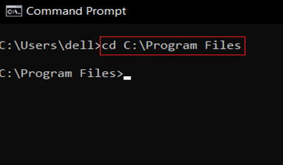 In CMD, type cd the path you copied and press Enter. How to change directory in CMD Windows 10