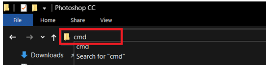 Write cmd and press Enter key. How to change directory in CMD Windows 10