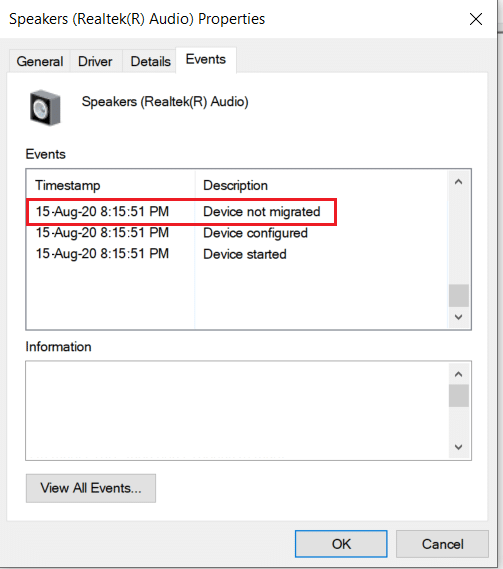 Device not Migrated error on Windows 10