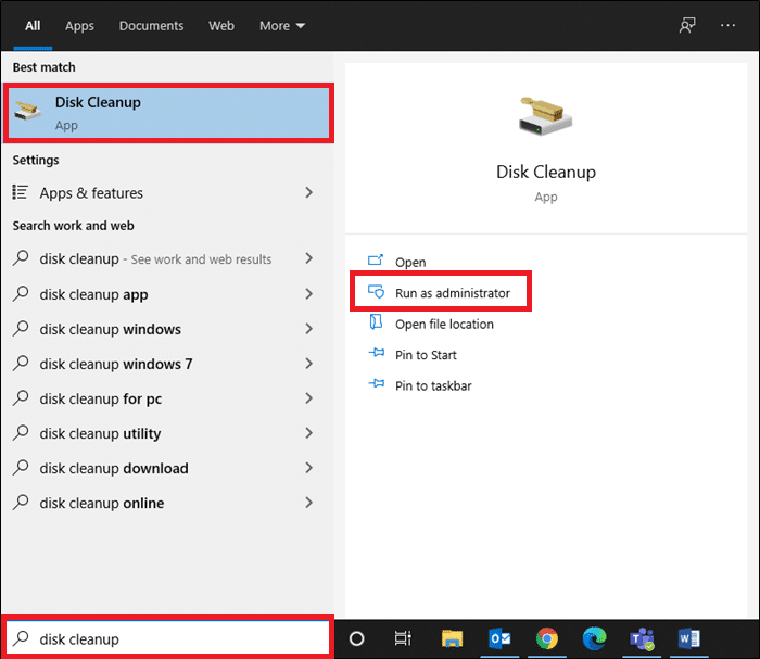 In a search bar type Disk Cleanup and click Run as administrator. How to Delete Win Setup Files in Windows 10